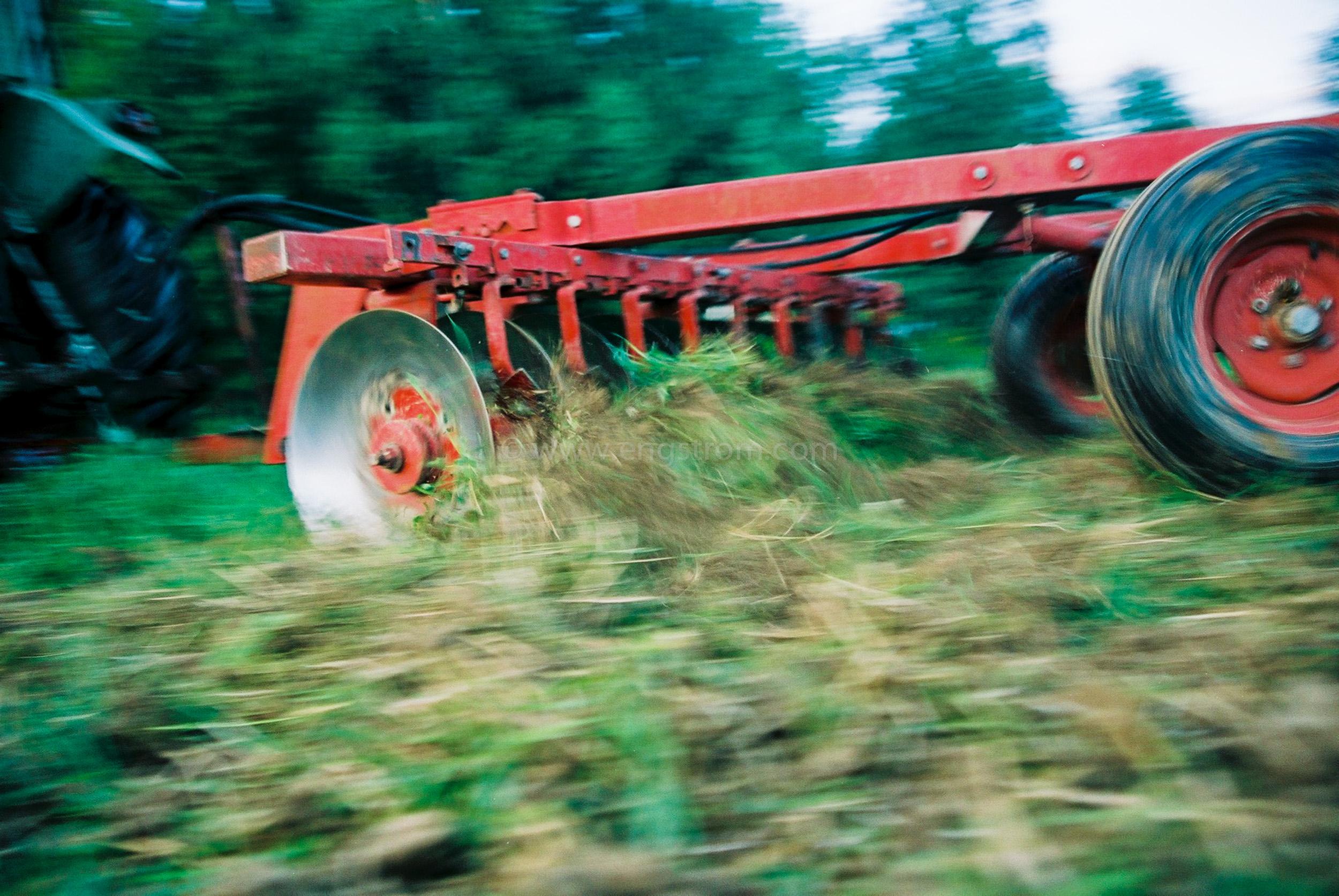 JE0317_36, Tallriksharvning av vall - vallbrott - Stocksbo Sommaren 2003, Jonas Engström