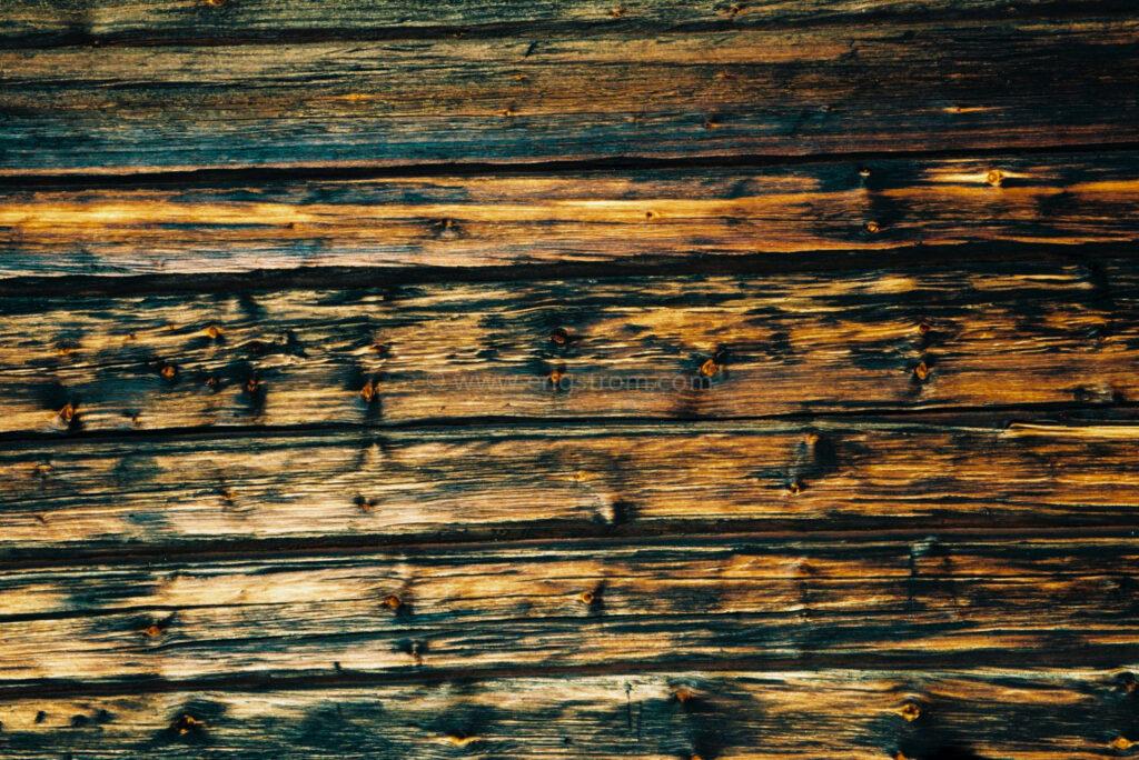 JE0400_064, Solbränt timmerhus. Ranvall vintern 2004, Jonas Engström