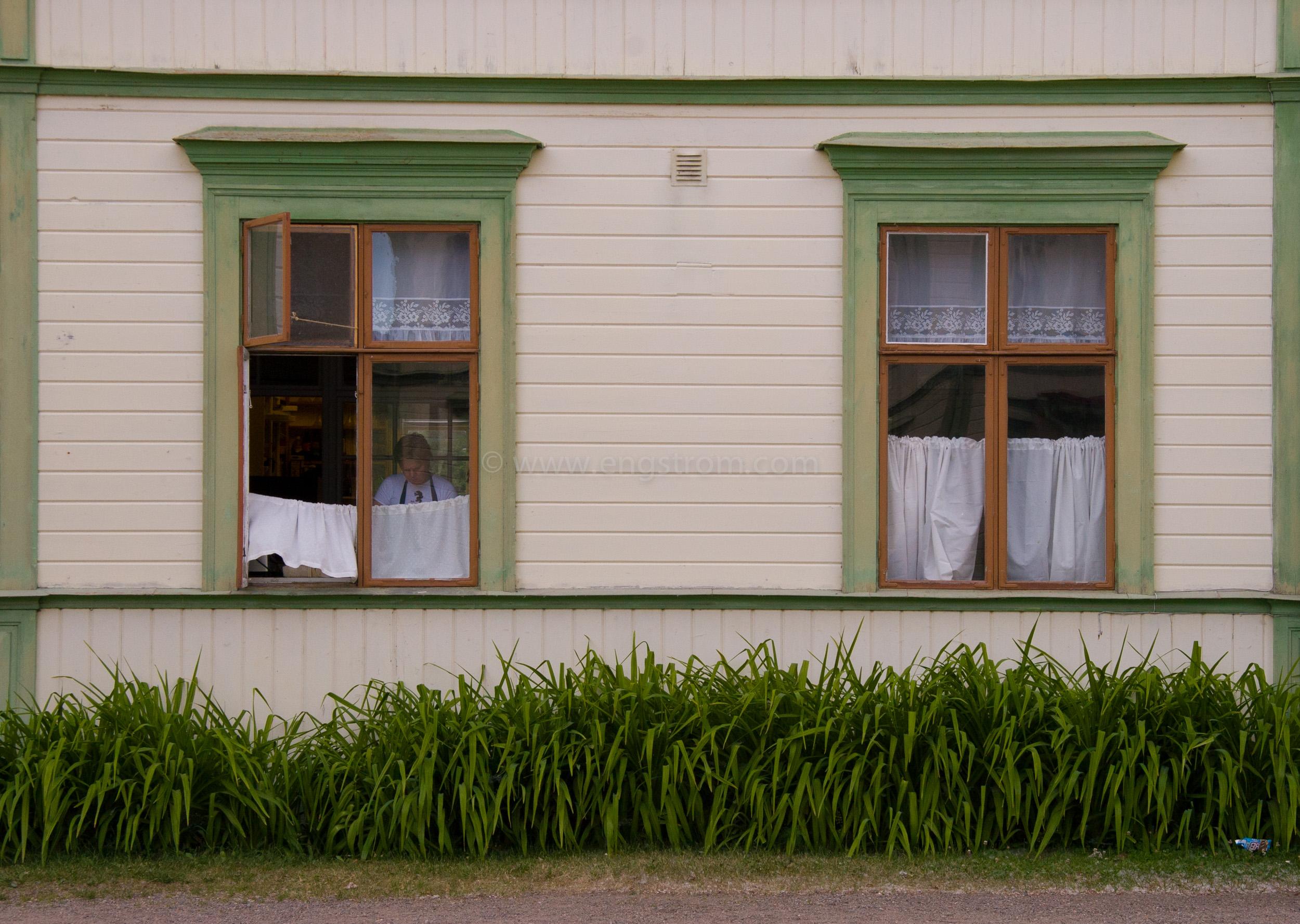 JE_11552, Trähus med gröna knutar, Järvsö, Jonas Engström