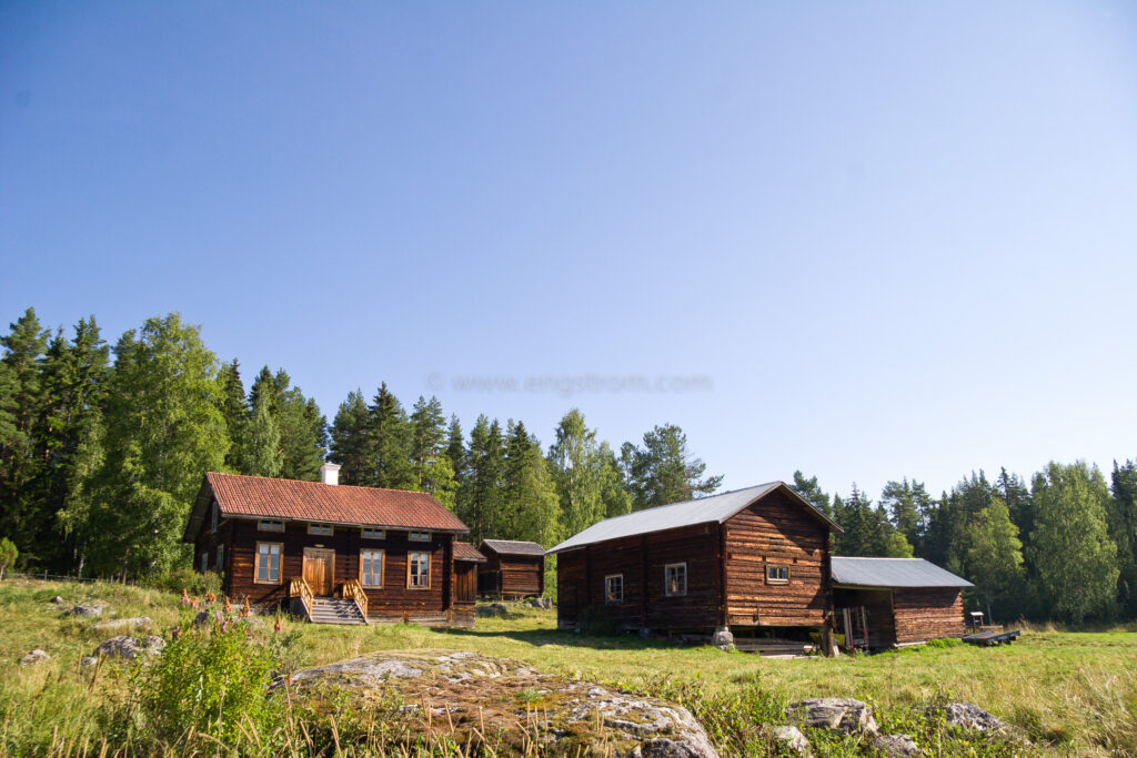 JE_17942, Timrat 1800-tals hus i skogsbrynet, Jonas Engström